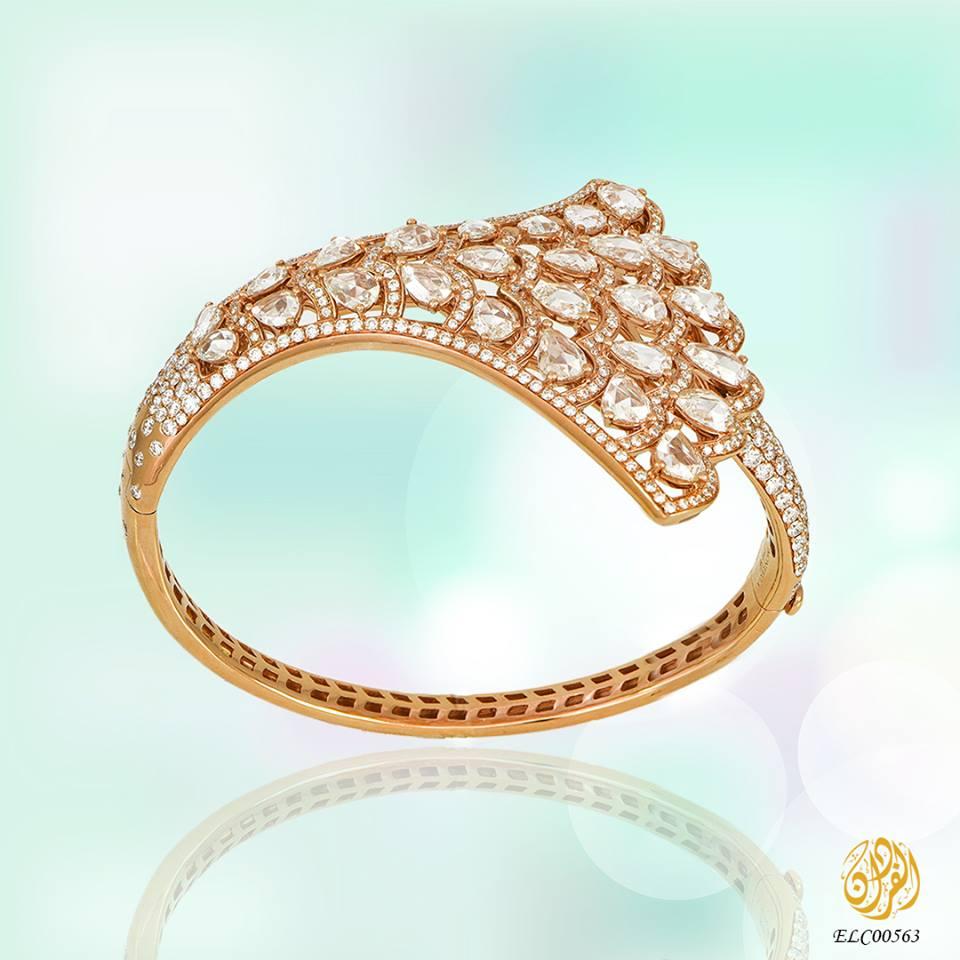 خاتم من الذهب الوردي الانيق